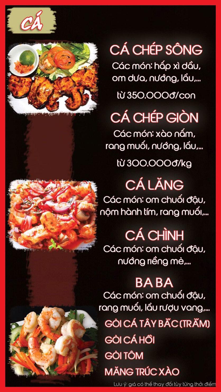 Menu Hoa Ban - Nguyễn Chí Thanh 7