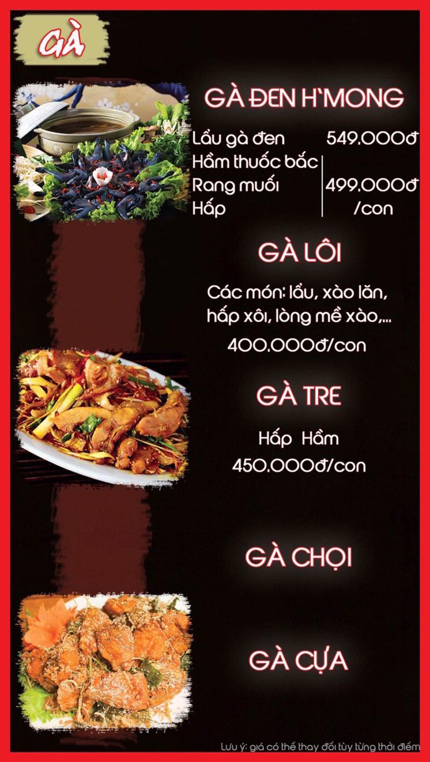 Menu Hoa Ban - Nguyễn Chí Thanh 8