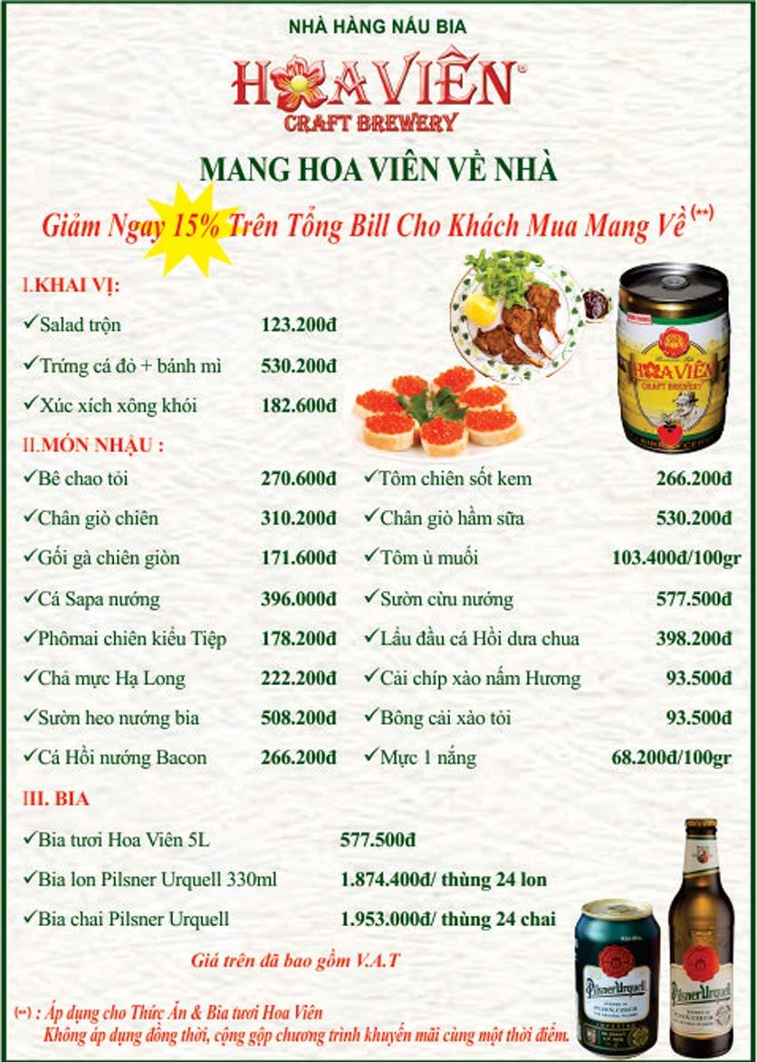 Menu Hoa Viên Pilsner Original – Phổ Quang  1