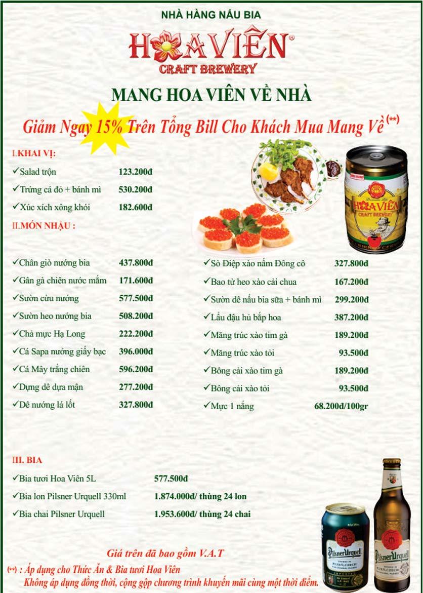 Menu Hoa Viên Pilsner Original – Phổ Quang  2