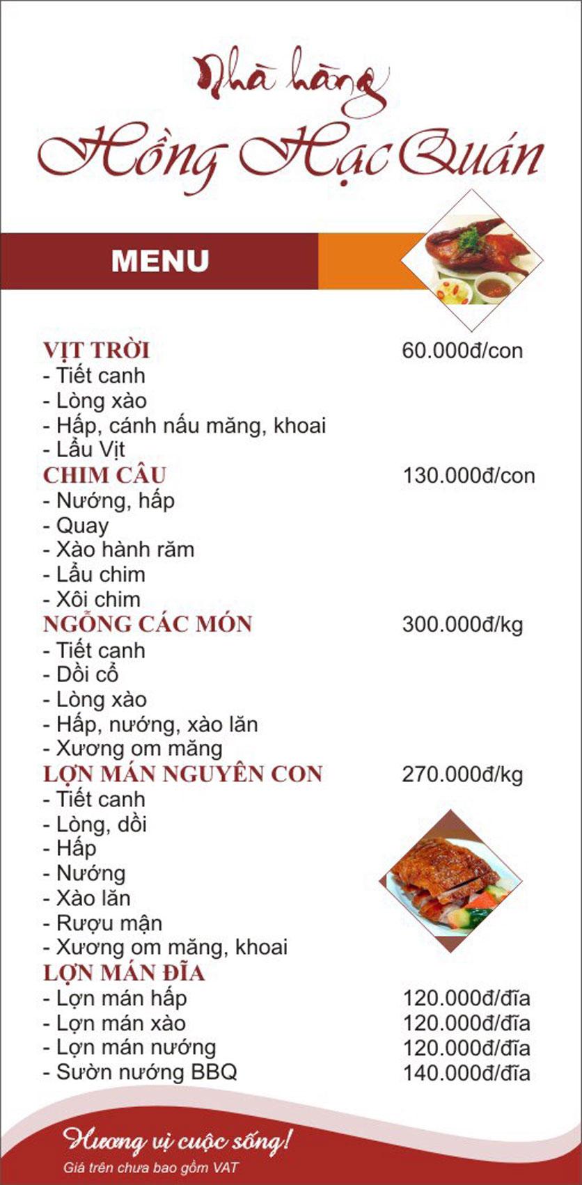 Menu Hồng Hạc - Tây Sơn 5