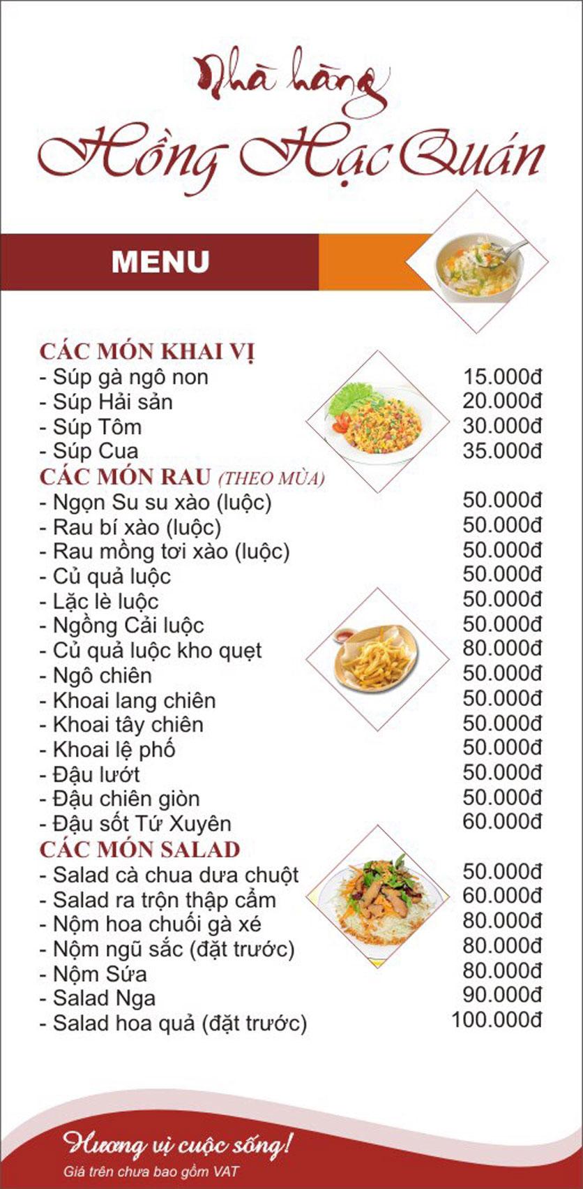 Menu Hồng Hạc - Tây Sơn 6