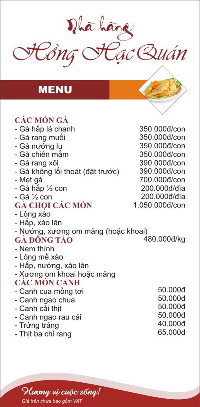 Menu Hồng Hạc - Tây Sơn 7