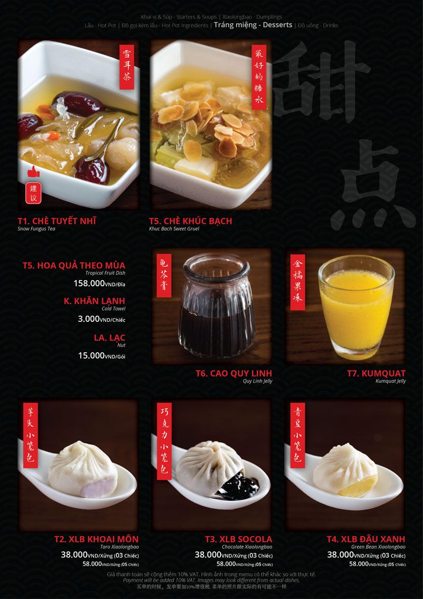Menu Hoolong - Dumpling Bar - Lê Văn Lương   17