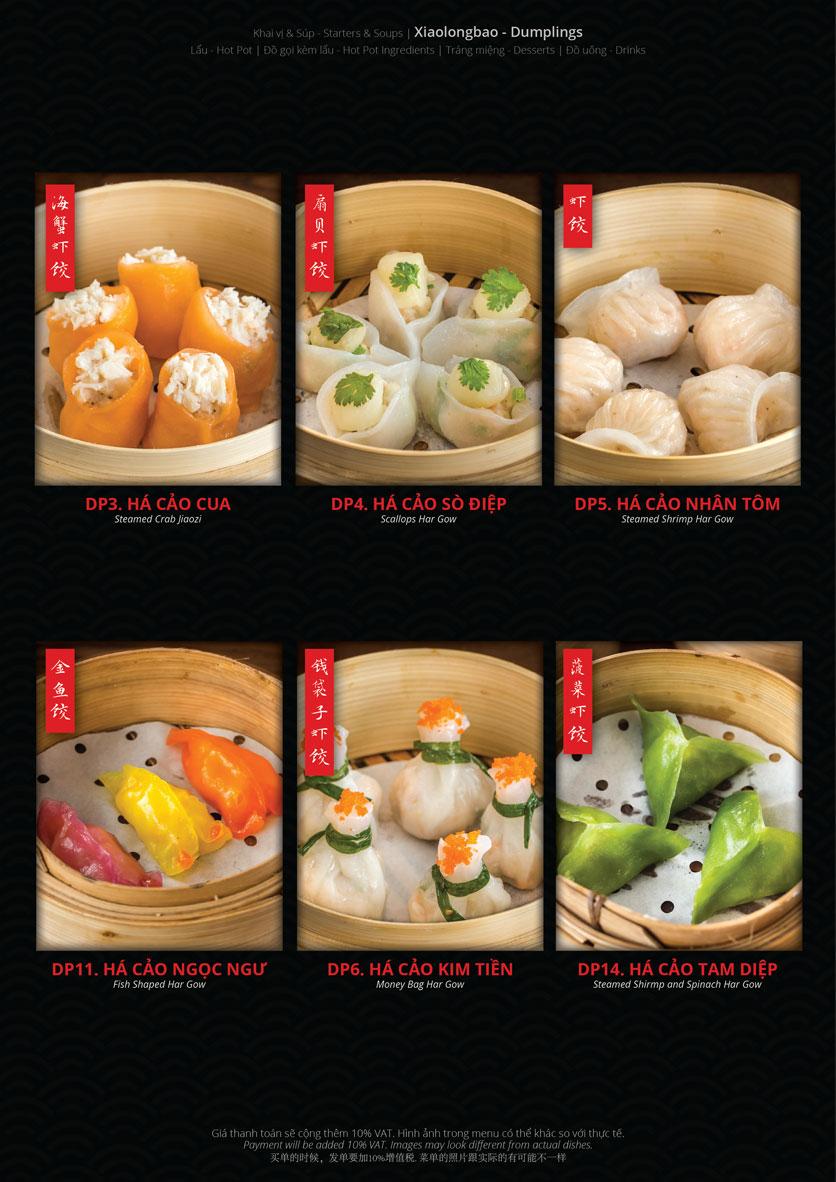 Menu Hoolong - Dumpling Bar - Lê Văn Lương   4