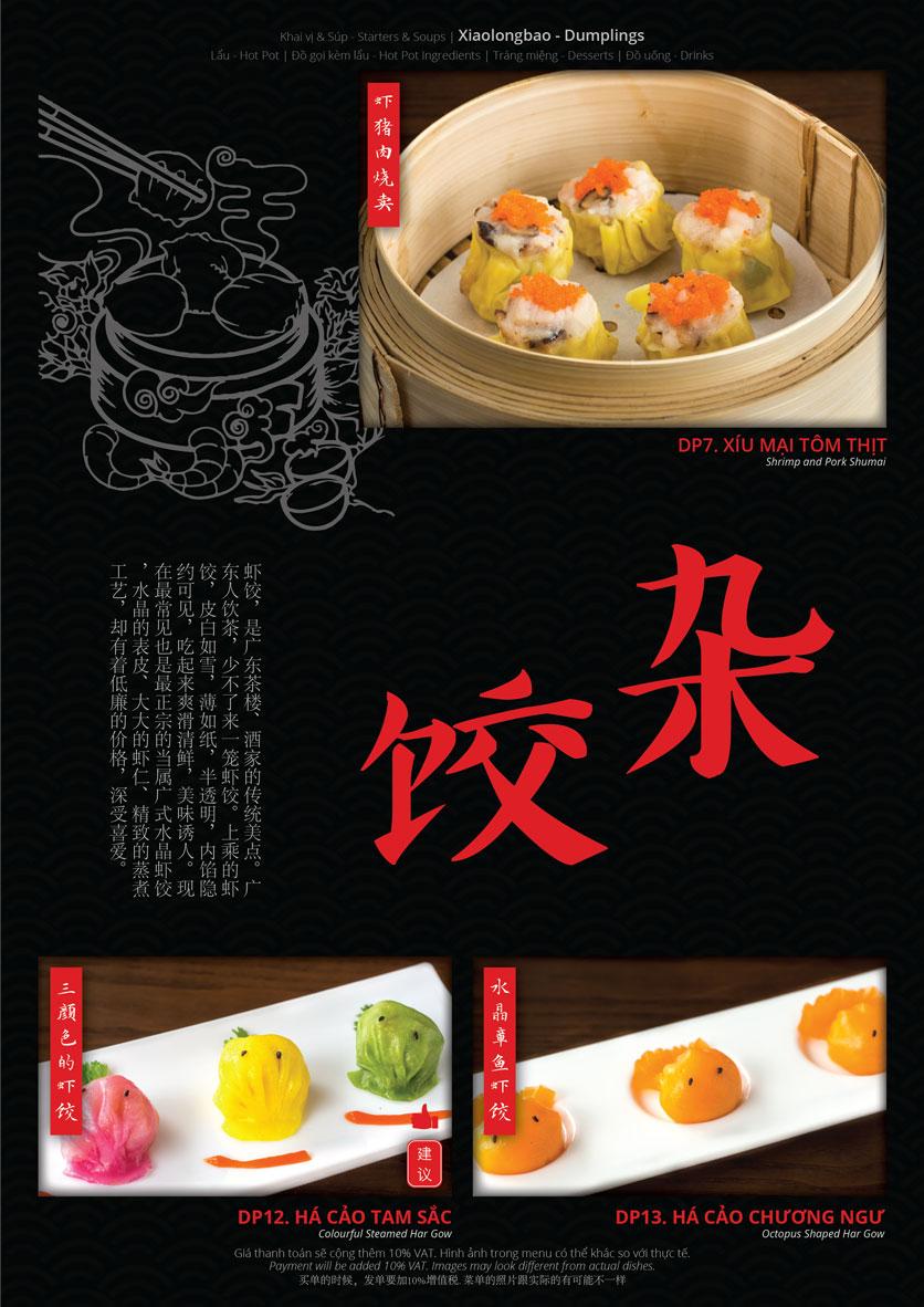 Menu Hoolong - Dumpling Bar - Lê Văn Lương   5