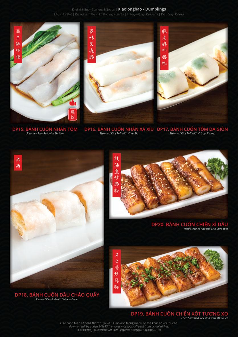Menu Hoolong - Dumpling Bar - Lê Văn Lương   7