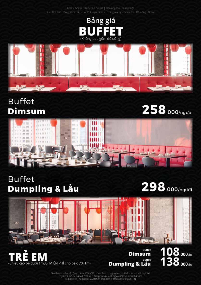 Menu Hoolong - Dumpling Bar - Đoàn Trần Nghiệp 1