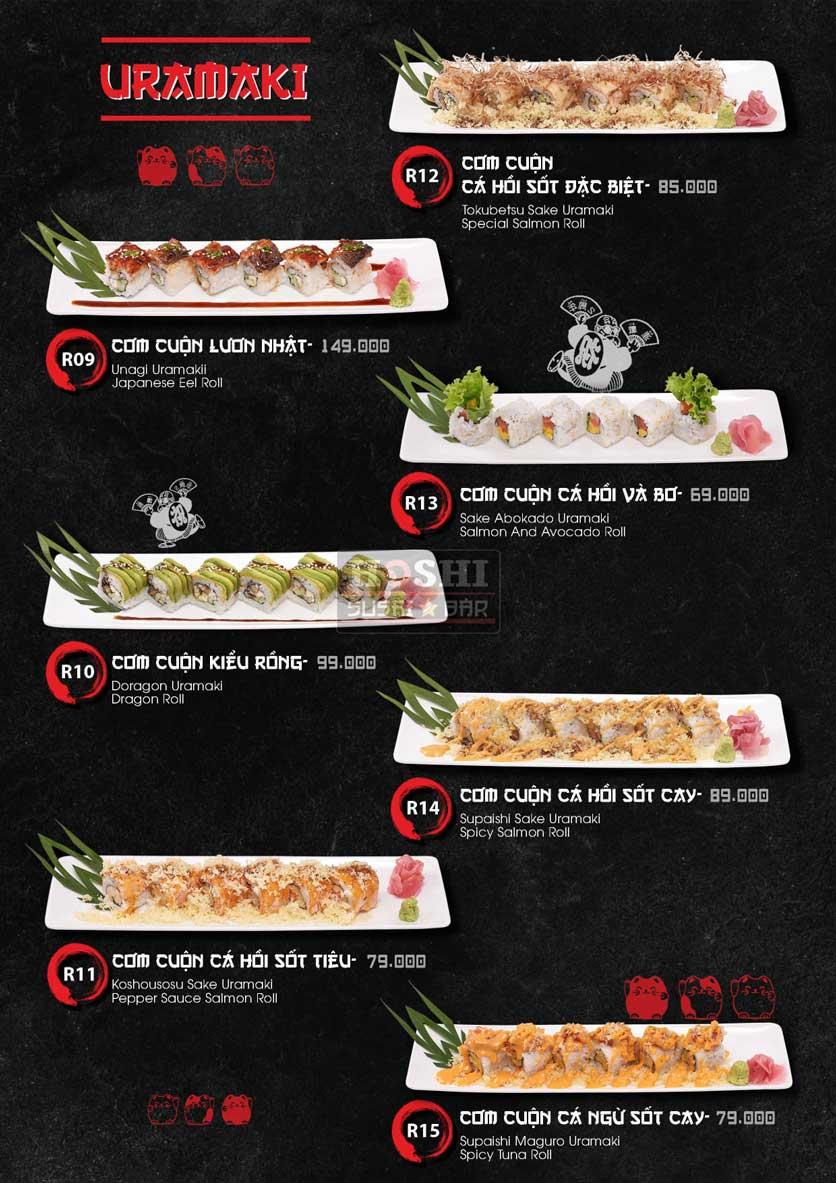 Menu Hoshi Sushi - Bàu Cát 10