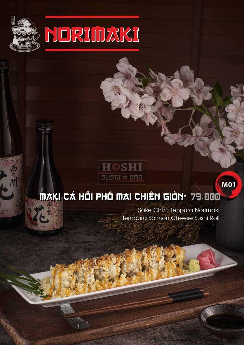 Menu Hoshi Sushi - Bàu Cát 12