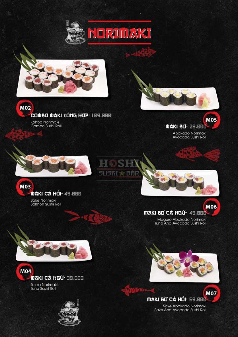 Menu Hoshi Sushi - Bàu Cát 13