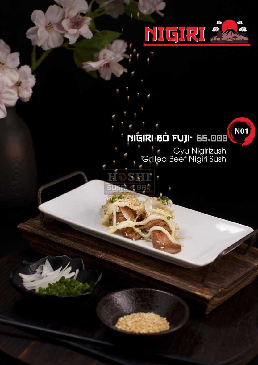Menu Hoshi Sushi - Bàu Cát 17