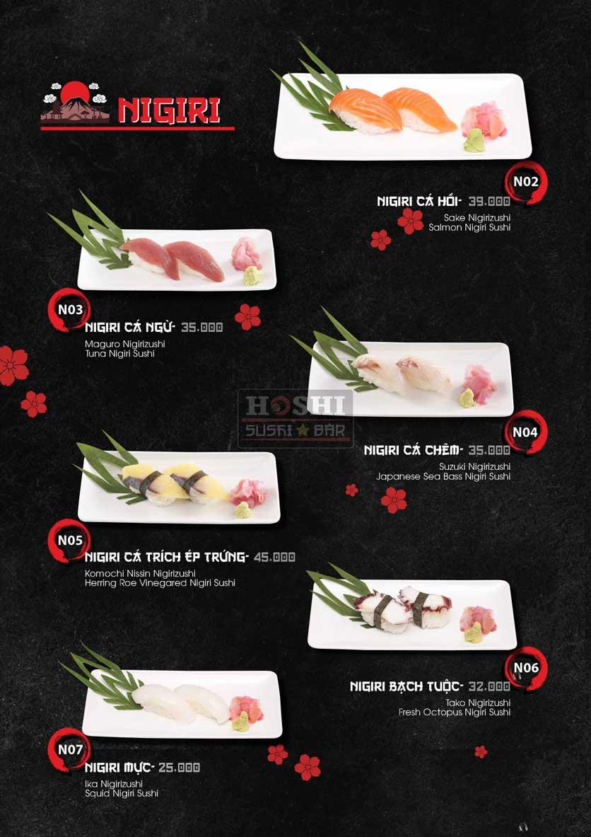 Menu Hoshi Sushi - Bàu Cát 18
