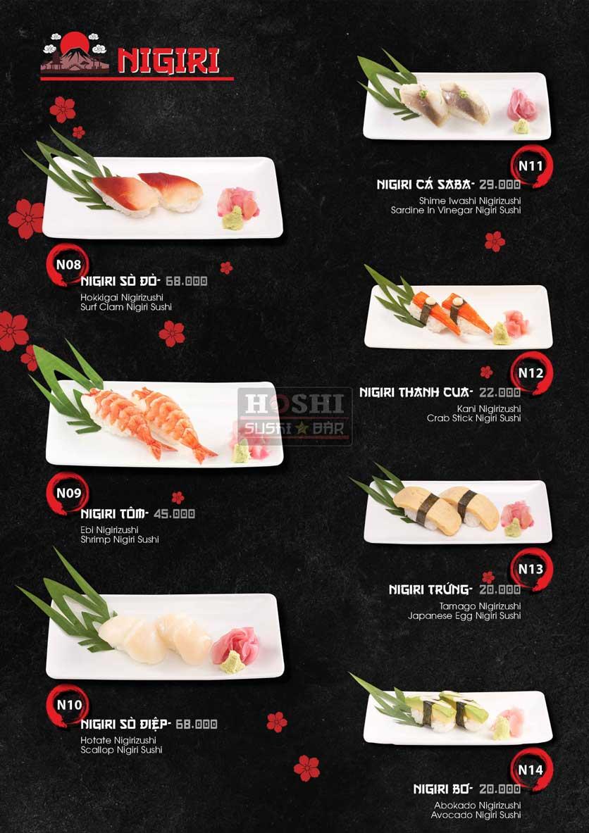 Menu Hoshi Sushi - Bàu Cát 19