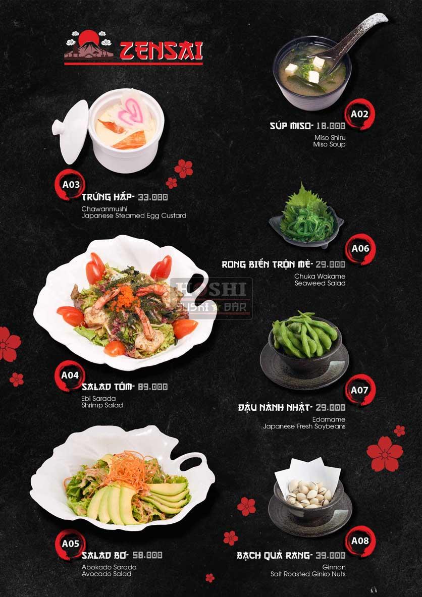 Menu Hoshi Sushi - Bàu Cát 2
