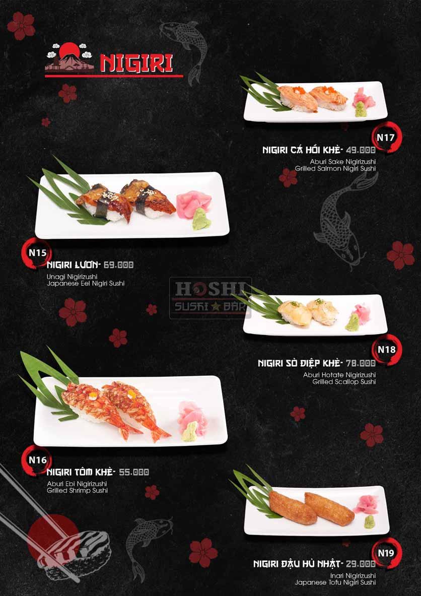 Menu Hoshi Sushi - Bàu Cát 20