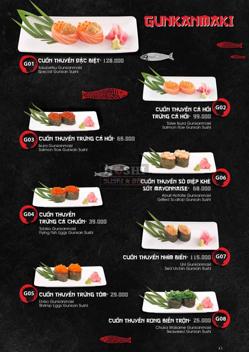 Menu Hoshi Sushi - Bàu Cát 21