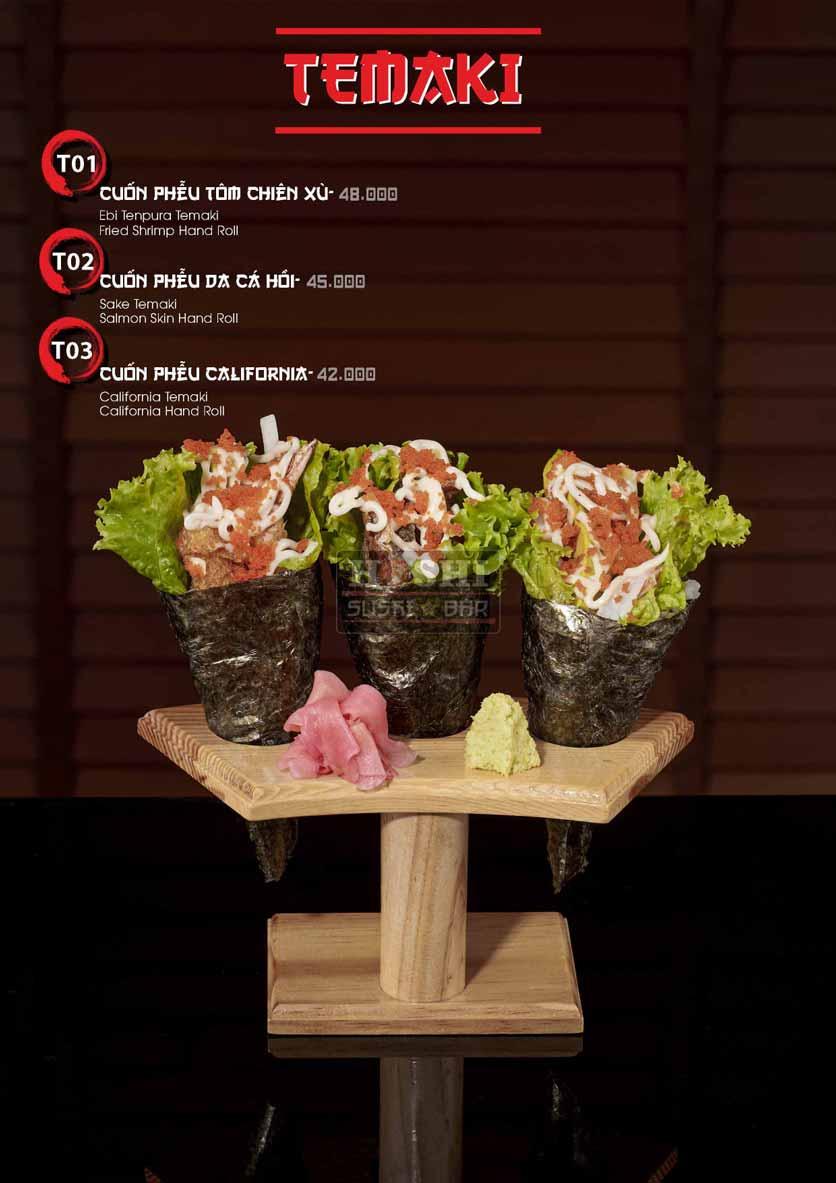 Menu Hoshi Sushi - Bàu Cát 22