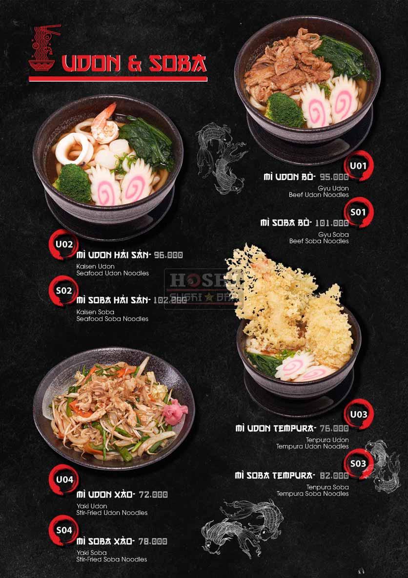 Menu Hoshi Sushi - Bàu Cát 23