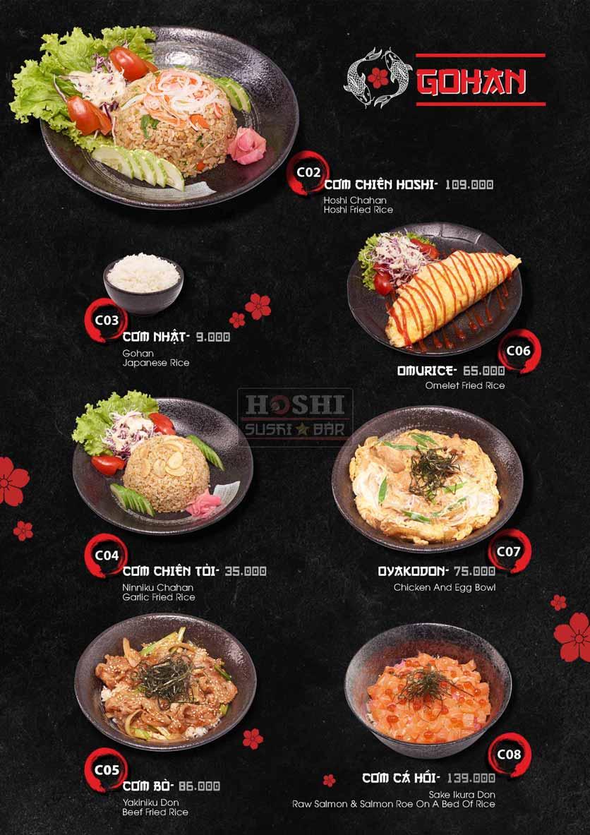 Menu Hoshi Sushi - Bàu Cát 25