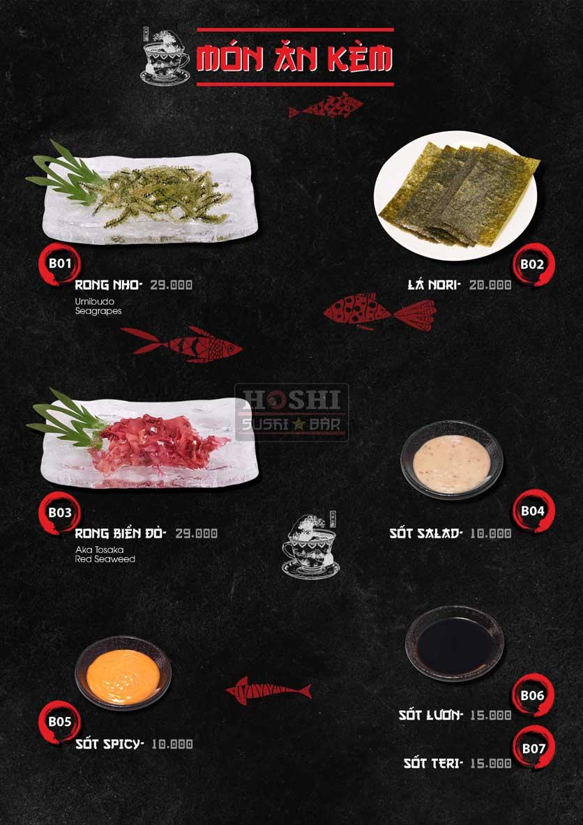 Menu Hoshi Sushi - Bàu Cát 3