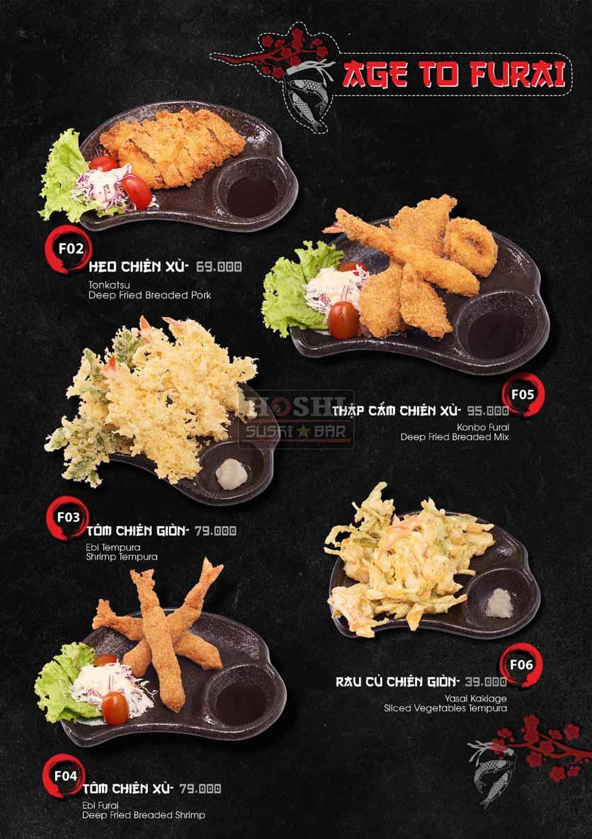 Menu Hoshi Sushi - Bàu Cát 30