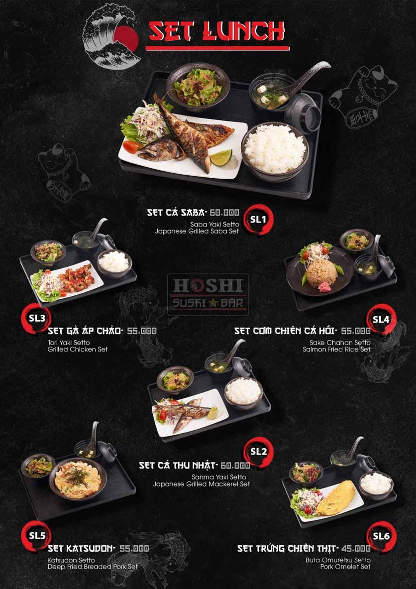 Menu Hoshi Sushi - Bàu Cát 31
