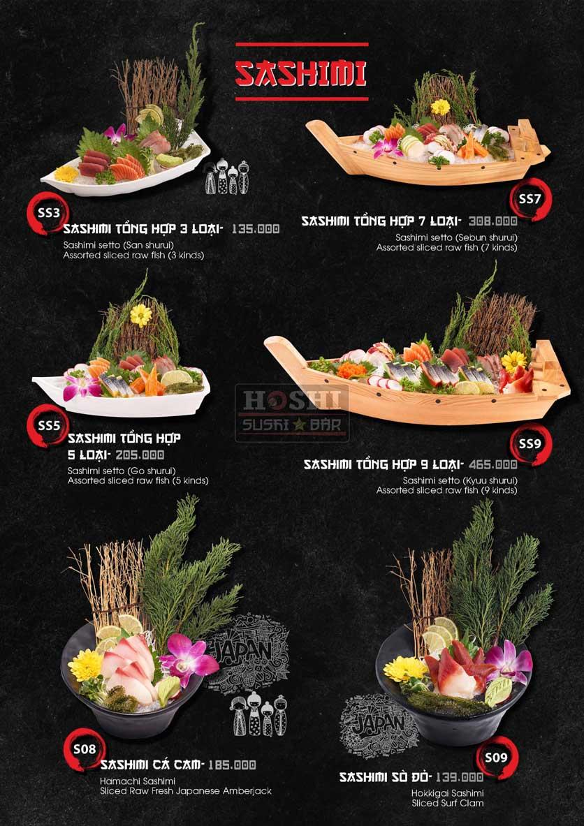 Menu Hoshi Sushi - Bàu Cát 5