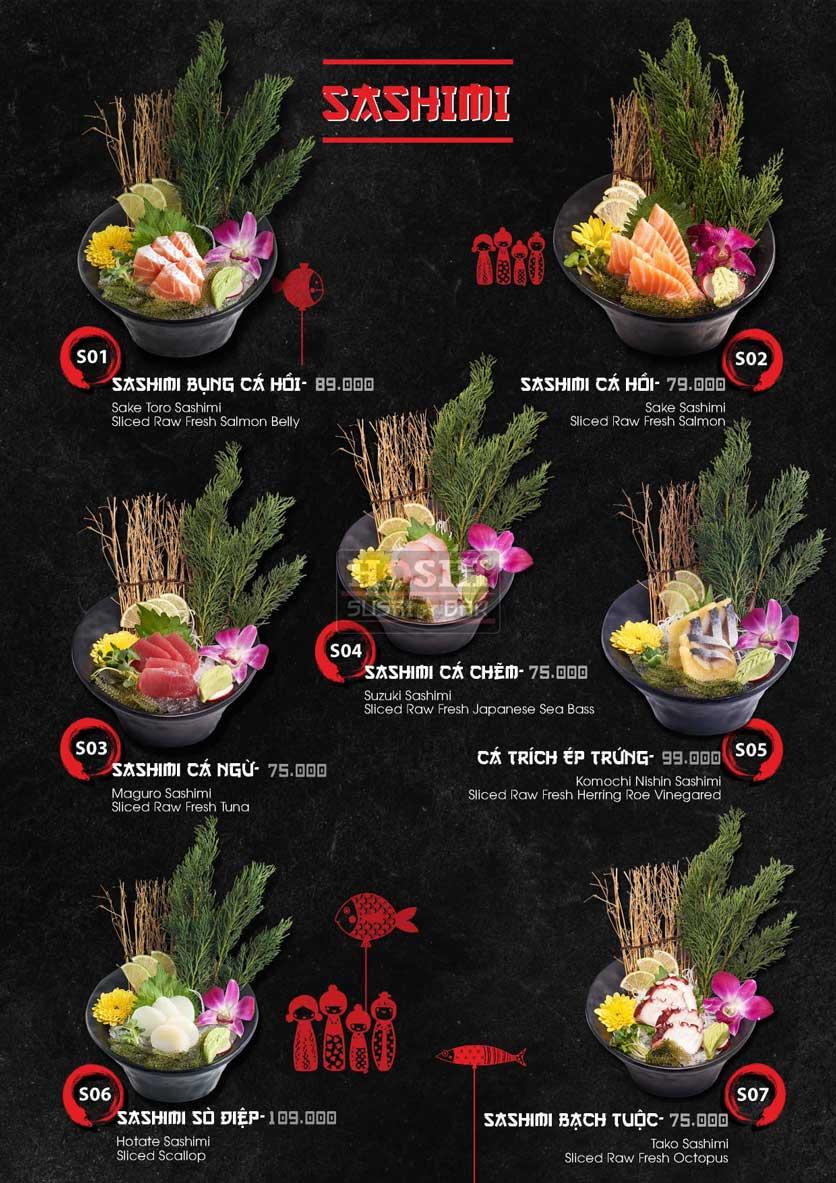 Menu Hoshi Sushi - Bàu Cát 6
