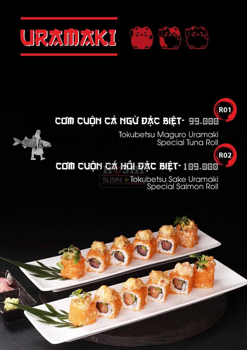 Menu Hoshi Sushi - Bàu Cát 8