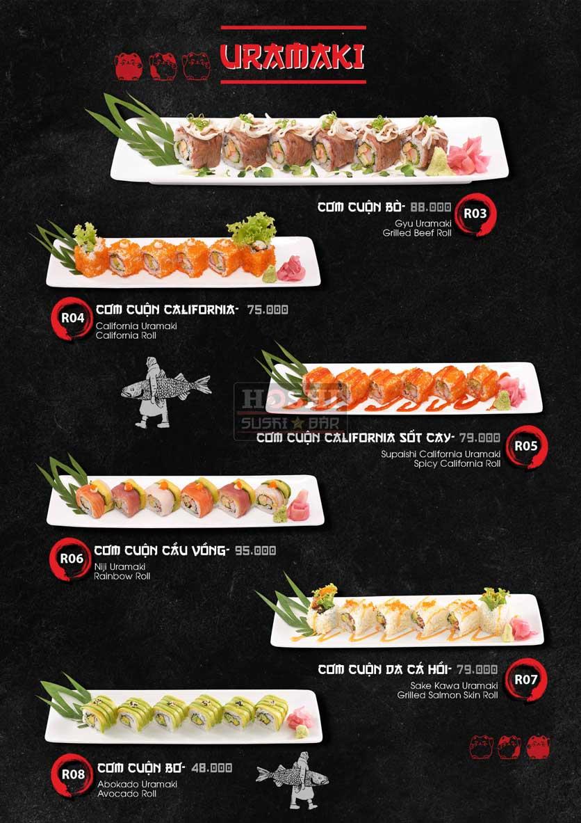 Menu Hoshi Sushi - Bàu Cát 9