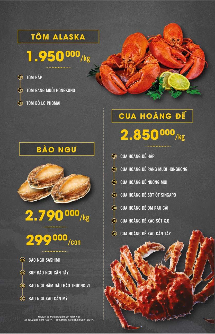 Menu Hải Sản Cua Bay - Đỗ Quang   7
