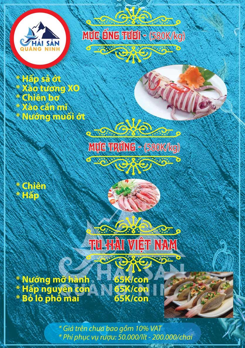 Menu Hải sản Quảng Ninh - Nguyễn Tuân 10