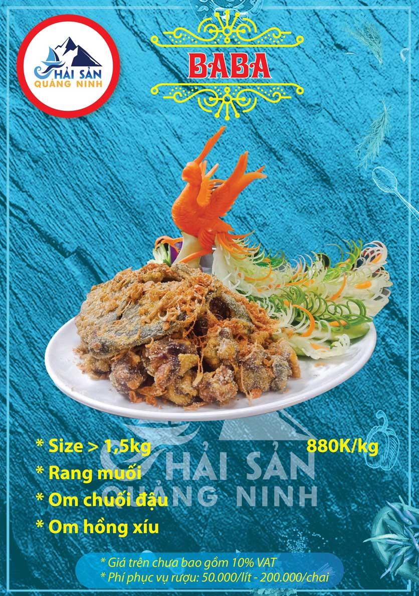 Menu Hải sản Quảng Ninh - Nguyễn Tuân 11