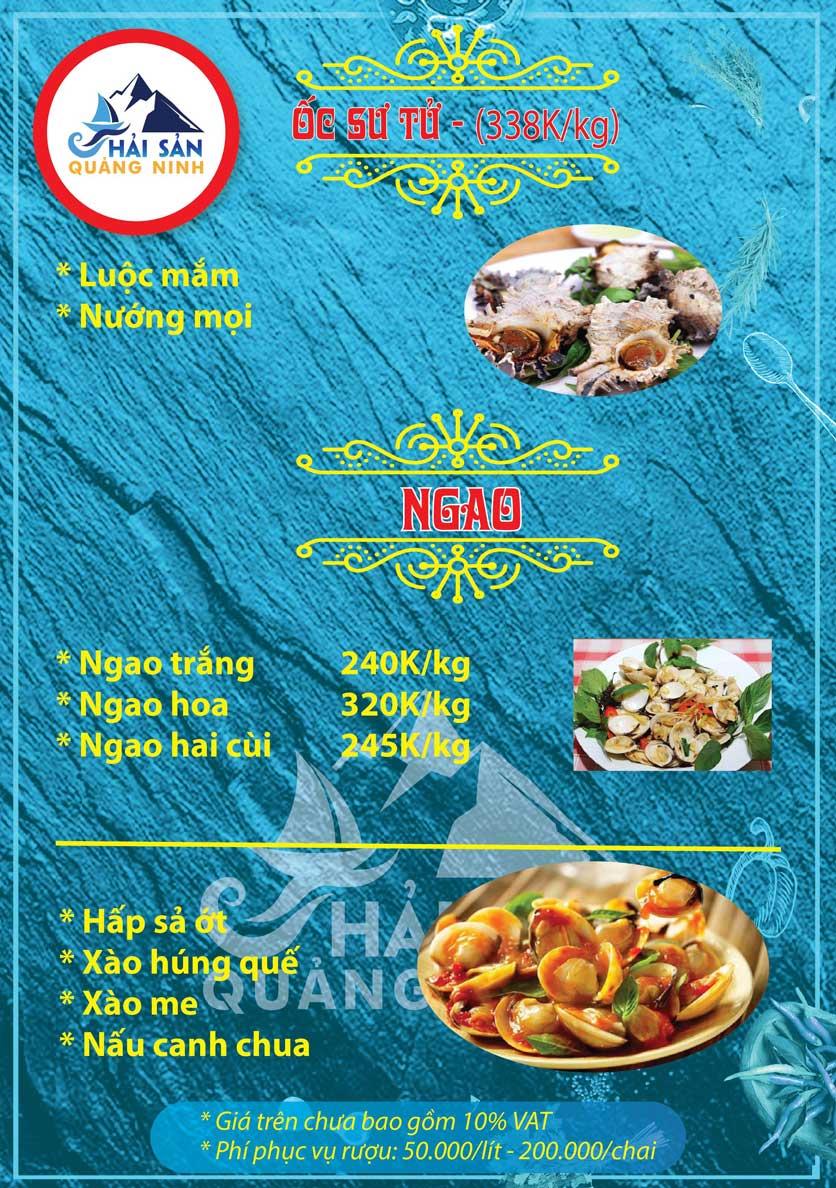 Menu Hải sản Quảng Ninh - Nguyễn Tuân 13