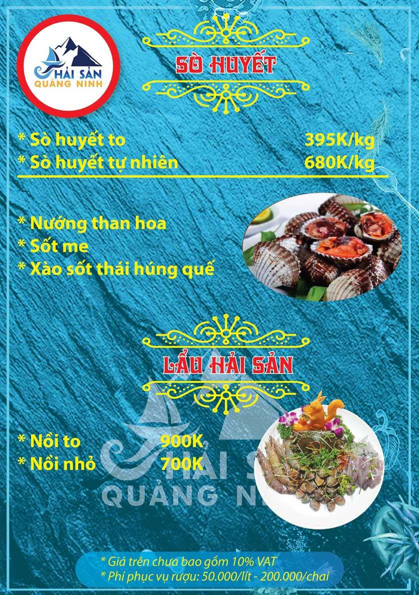 Menu Hải sản Quảng Ninh - Nguyễn Tuân 14