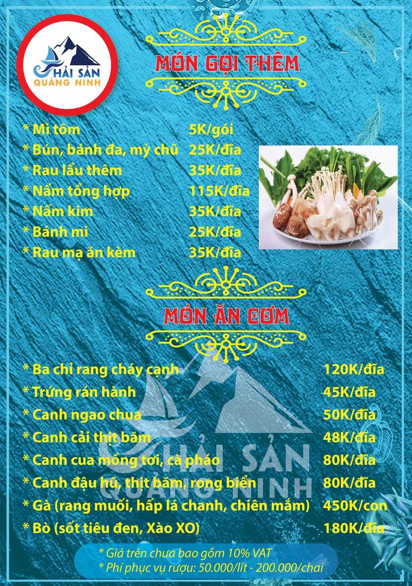 Menu Hải sản Quảng Ninh - Nguyễn Tuân 15