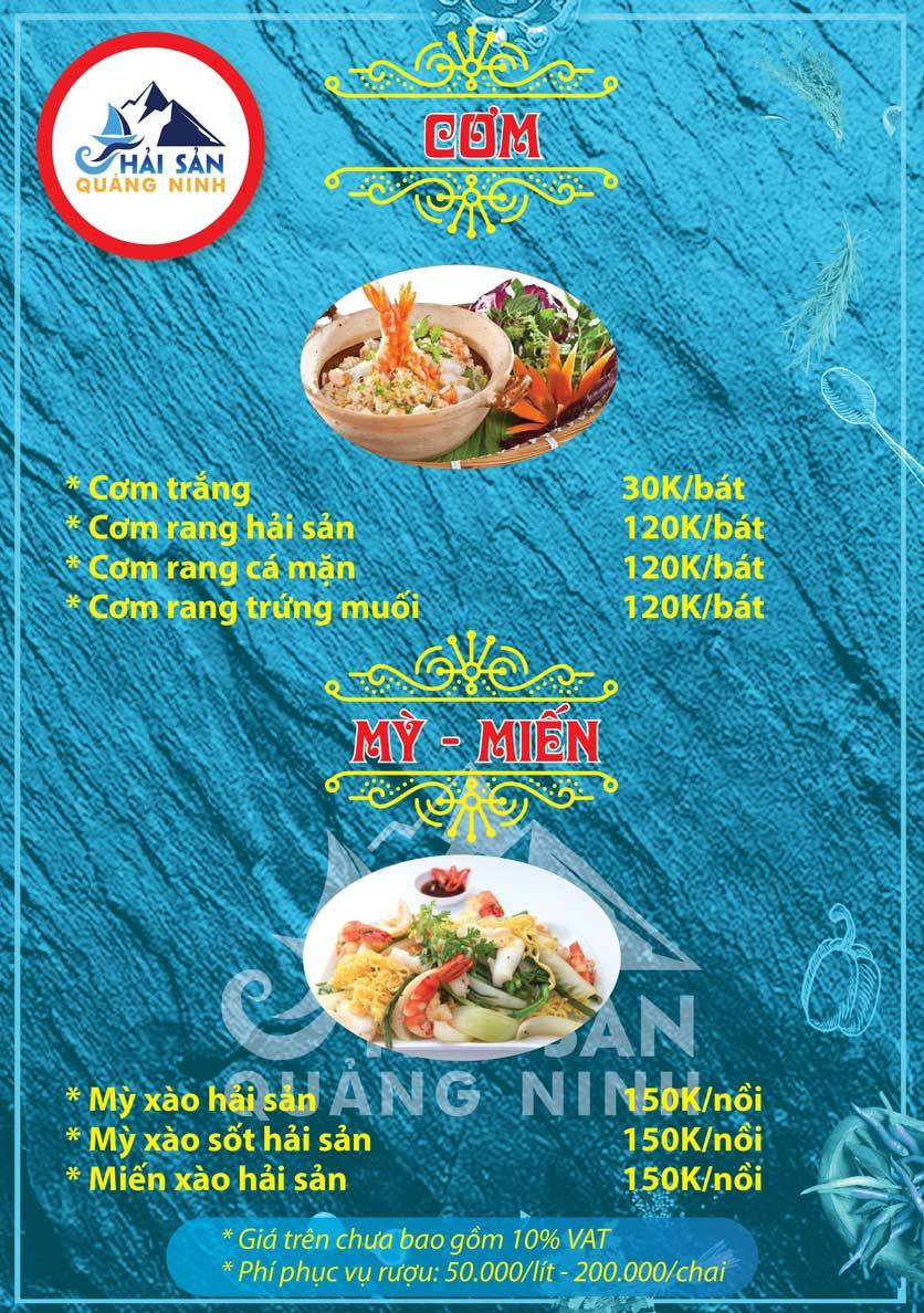 Menu Hải sản Quảng Ninh - Nguyễn Tuân 16