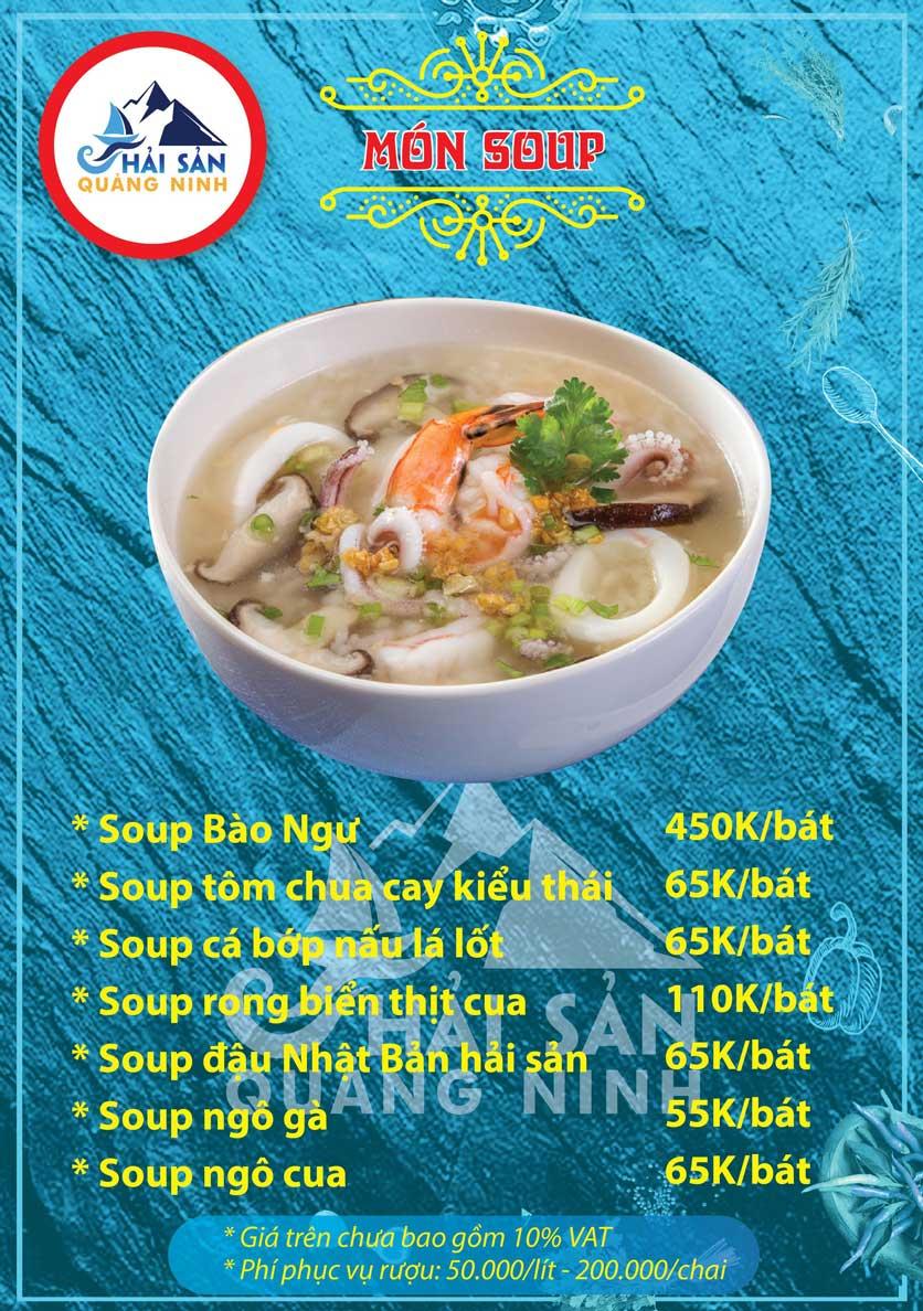 Menu Hải sản Quảng Ninh - Nguyễn Tuân 2
