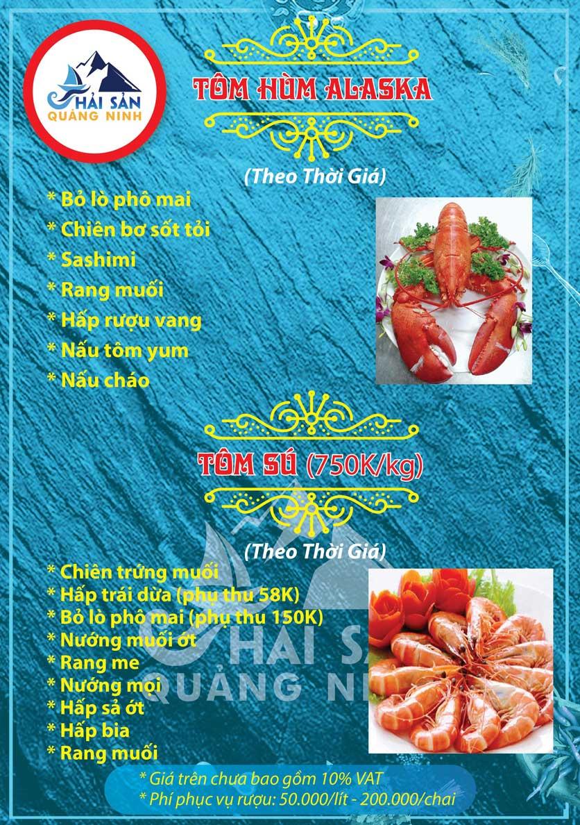 Menu Hải sản Quảng Ninh - Nguyễn Tuân 3