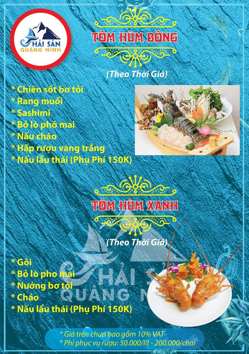 Menu Hải sản Quảng Ninh - Nguyễn Tuân 4