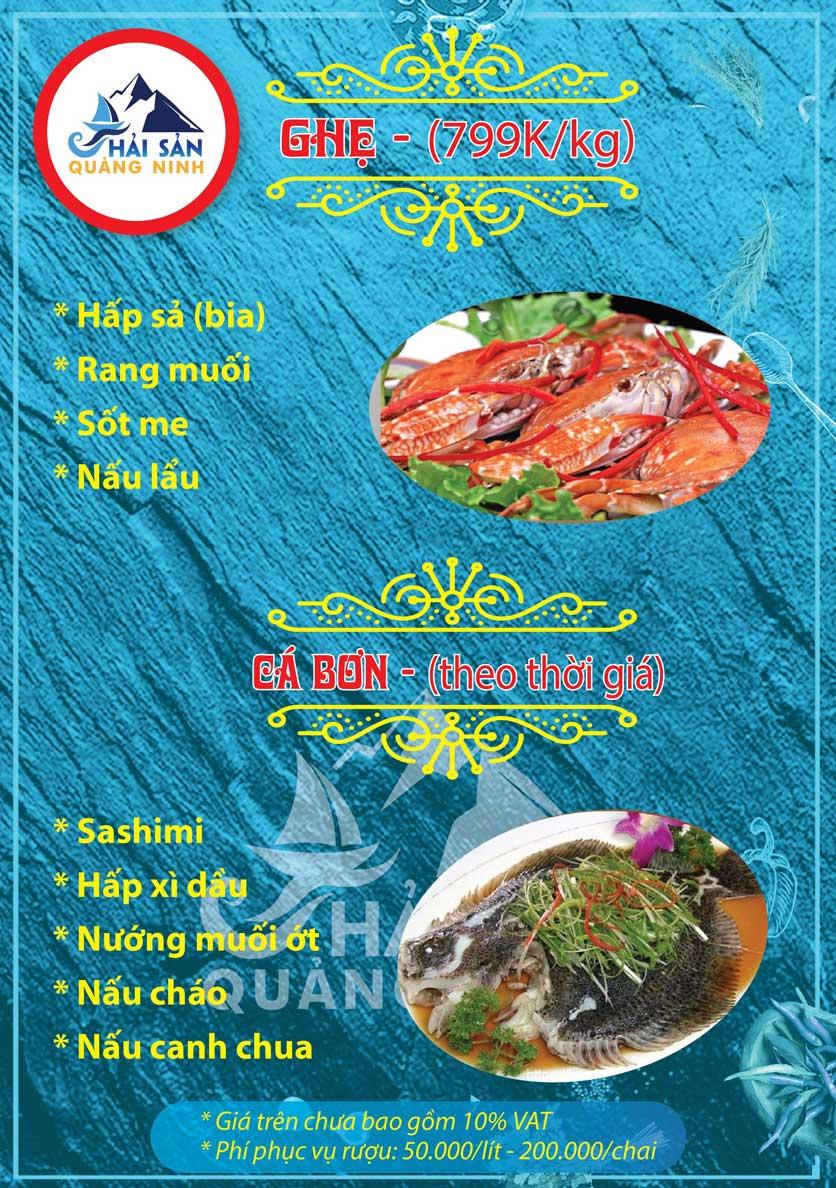 Menu Hải sản Quảng Ninh - Nguyễn Tuân 6