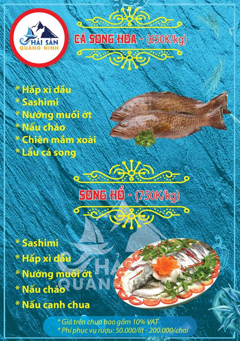 Menu Hải sản Quảng Ninh - Nguyễn Tuân 7