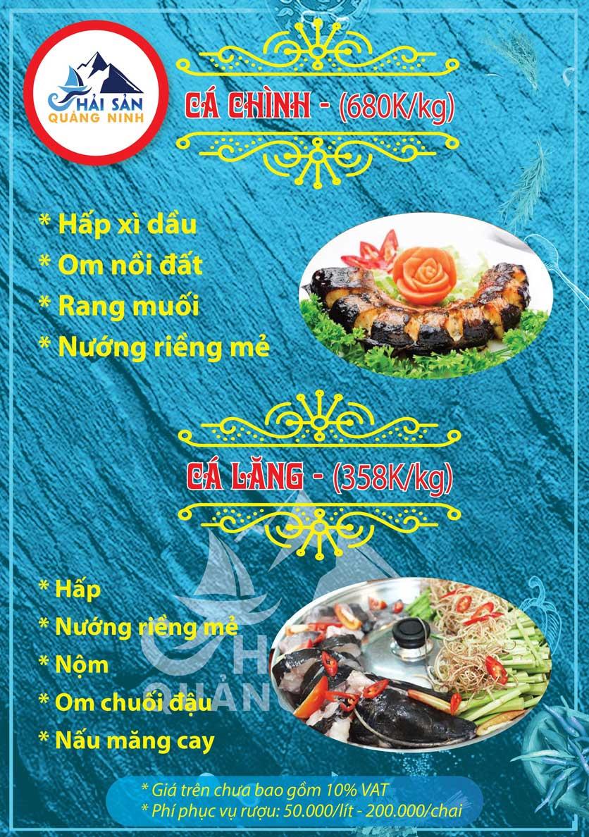 Menu Hải sản Quảng Ninh - Nguyễn Tuân 8