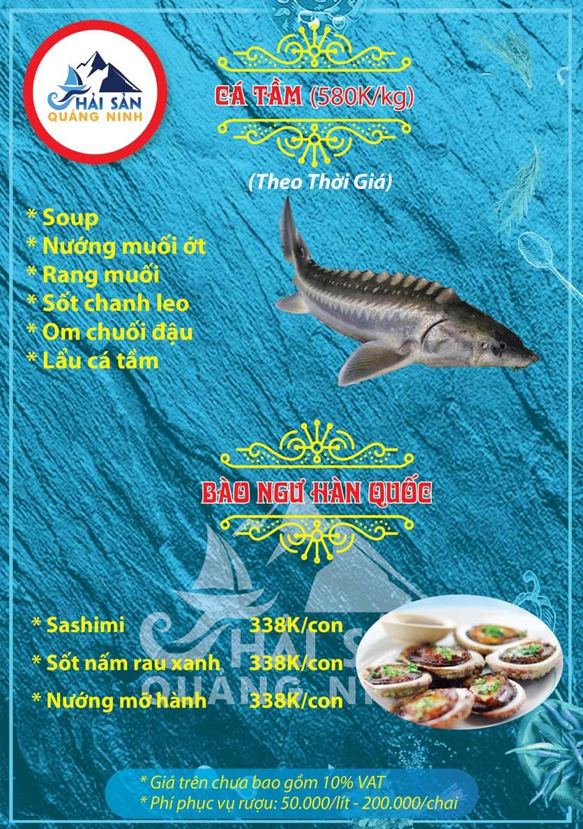 Menu Hải sản Quảng Ninh - Nguyễn Tuân 9