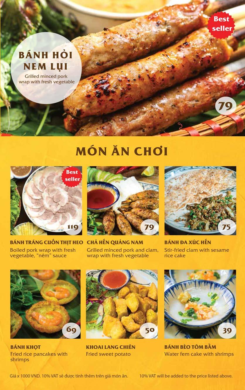 Menu Vị Quảng – Nguyễn Chí Thanh 2