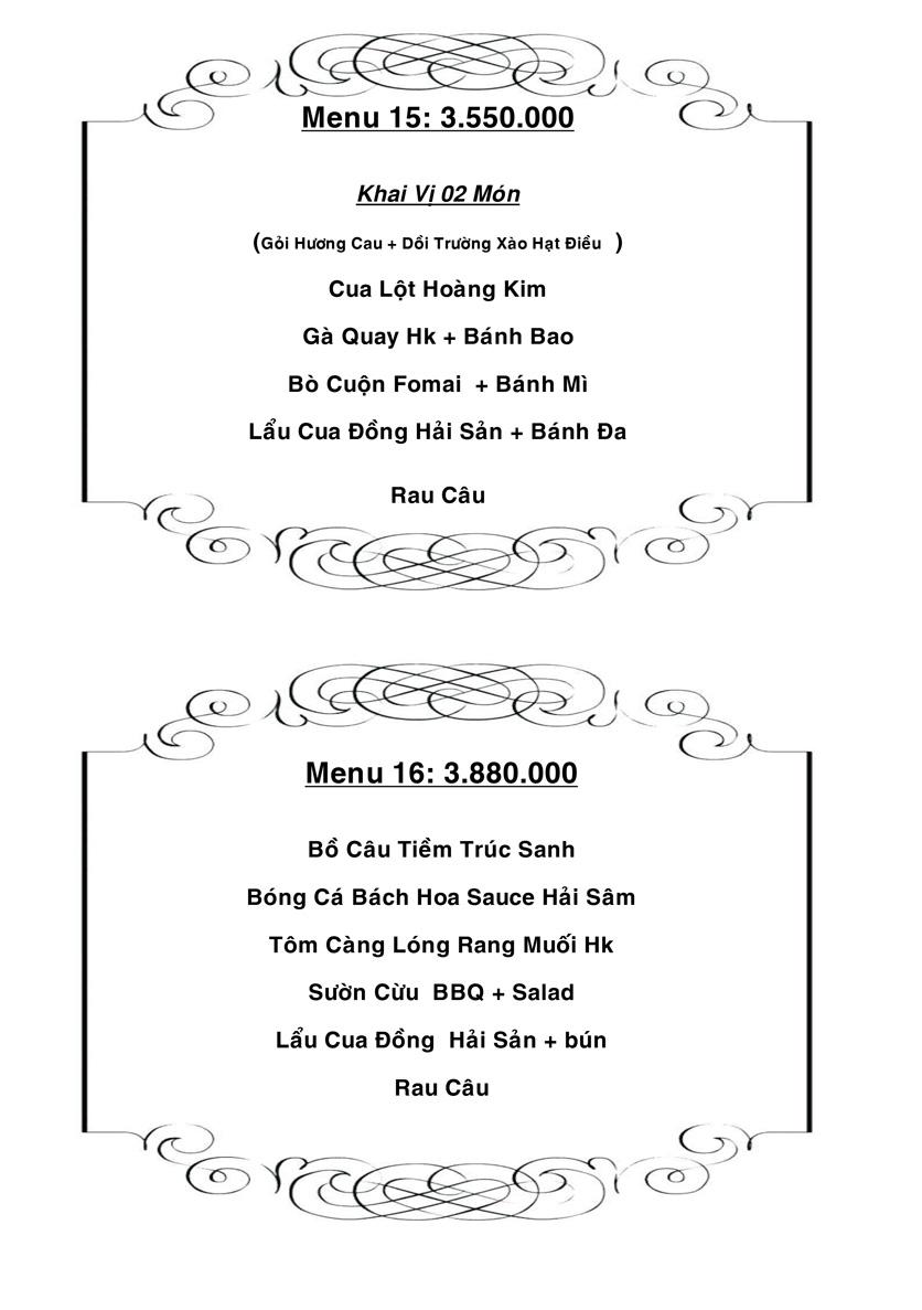 Menu Hương Cau 1 - Lê Văn Sỹ 35