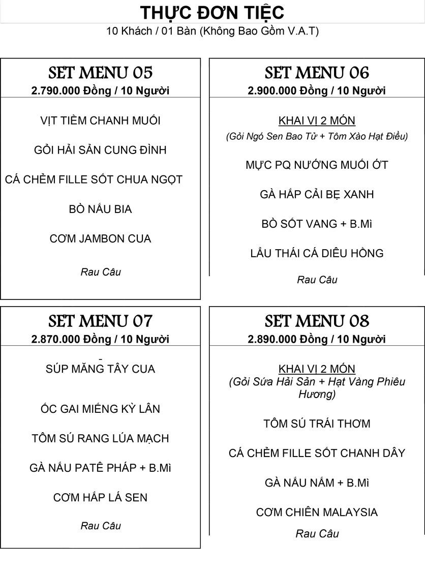 Menu Hương Cau 2 - Tân Canh 29