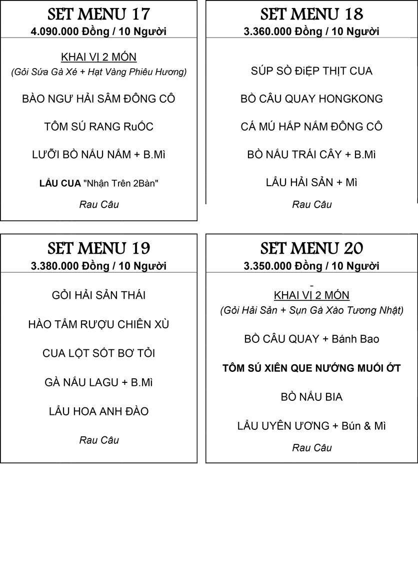 Menu Hương Cau 2 - Tân Canh 32