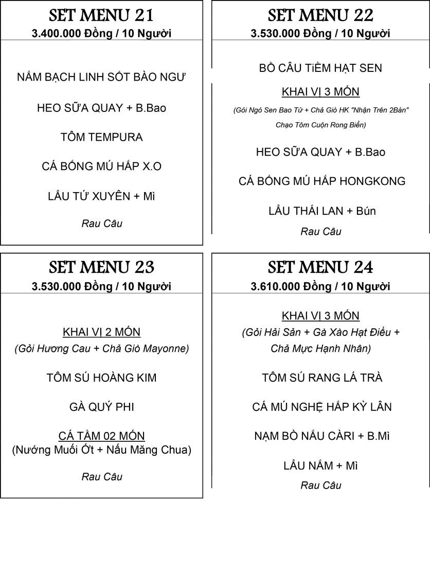 Menu Hương Cau 2 - Tân Canh 33